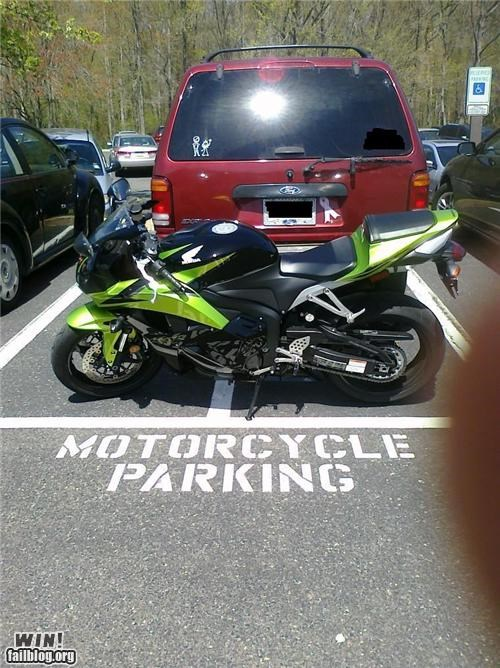 clever deserved motorcycle parking - 4678962944