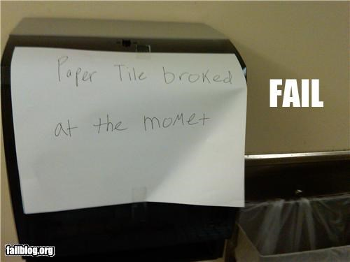 facepalm,failboat,g rated,paper towels,spelling