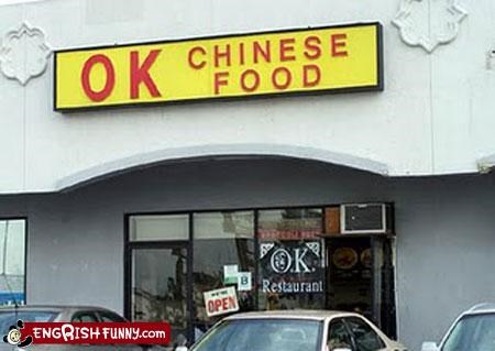 food ok restaurant sign