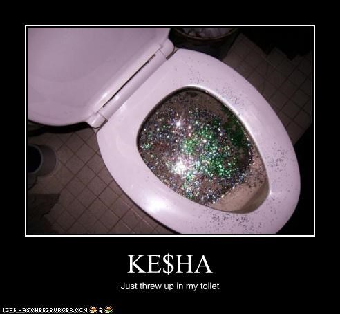 KE$HA Just threw up in my toilet