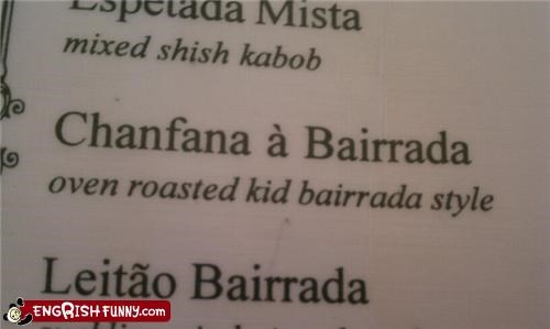 FAIL kid menu