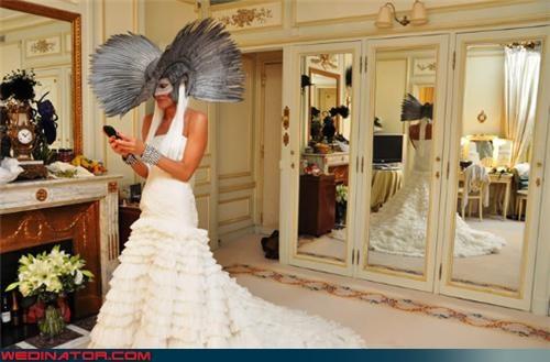 bird hat bride funny wedding photos superhero wedding - 4679289344