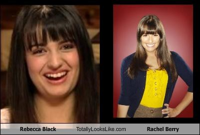 actresses,glee,Rachel Berry,Rebecca Black,singers
