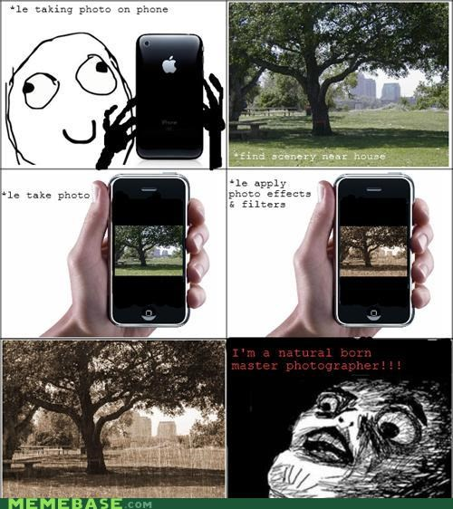 camera phone photographer Rage Comics raisins tree - 4679362304