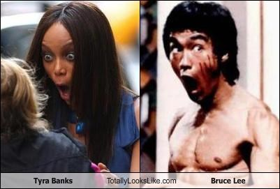 actors,bruce lee,karate,models,Tyra Banks