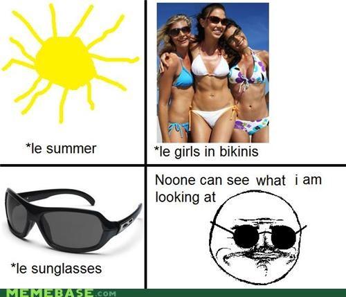 bikinis,girls,me gusta,Rage Comics,summer,sunglasses