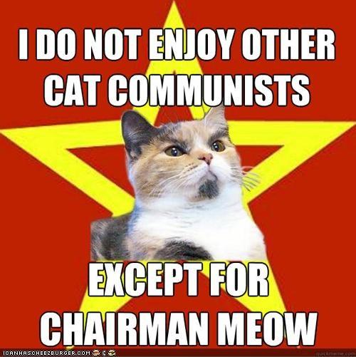 chairman mao communism Lenin Cat memecats Memes puns - 4679567872