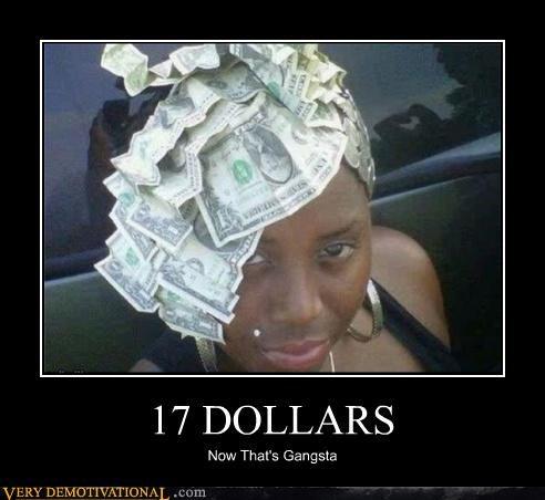 gangsta hair hilarious money - 4679617536