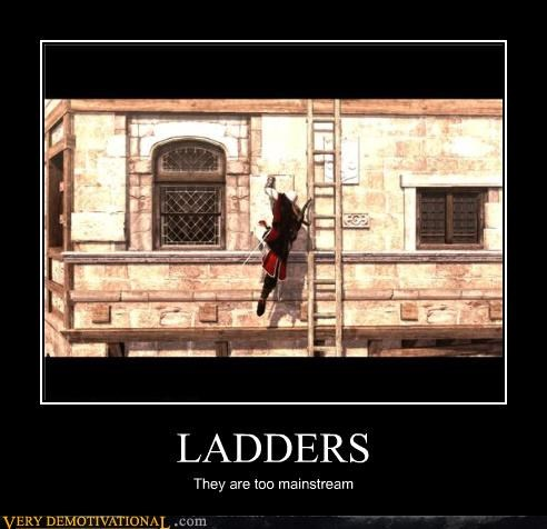 assassins creed,ladders,mainstream,video games