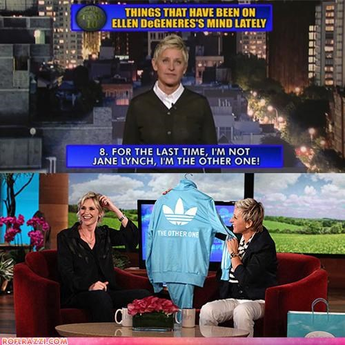actor,celeb,ellen degeneres,funny,Jane Lynch