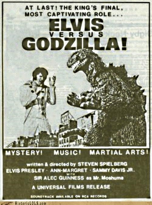 Elvis,fake,funny,godzilla,shoop