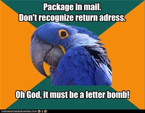 Package In Mail Dont Recognize Return Adress Oh God It Must Be A