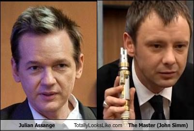 actors,doctor who,john simm,julian assange,the master