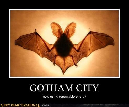 bat Bat signal gotham renewable energy