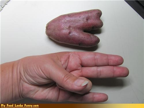 dirty fingers hand potato shocker