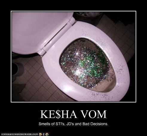 KE$HA VOM Smells of STI's, JD's and Bad Decisions.