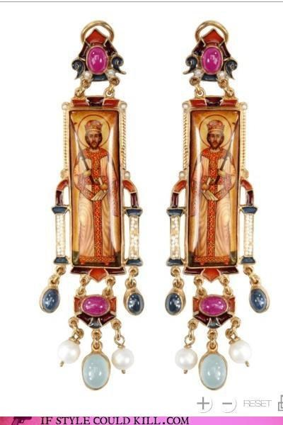 cool accessories diego percossi papi earrings easter religion - 4681222400