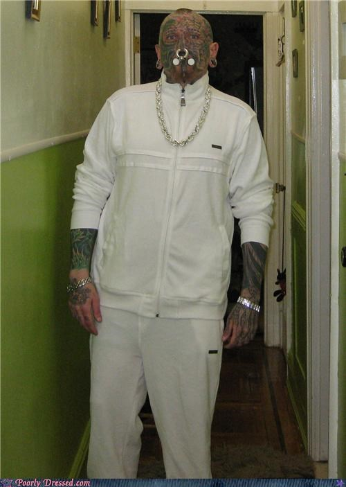 piercings,star wars,tattoo,track suit,wtf