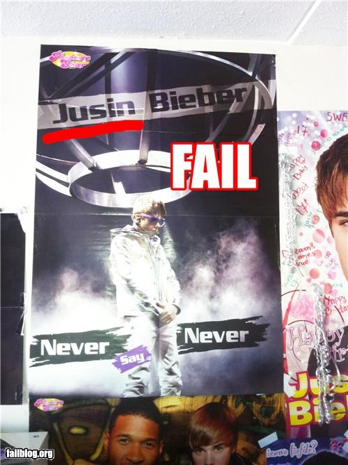 celeb,failboat,g rated,justin bieber,movies,names,poster,spelling
