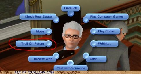 forums,The Sims,troll,video games