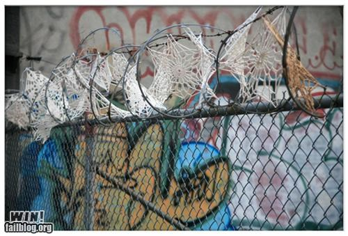 crochet,fences,wires