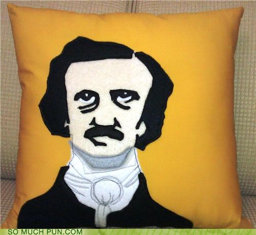 Edgar Allan Poe embroidery literalism Pillow poe - 4682605056