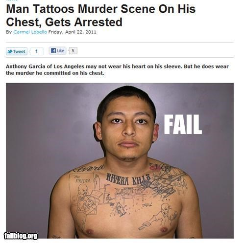 criminals Probably bad News stupidity tattoo - 4682656000