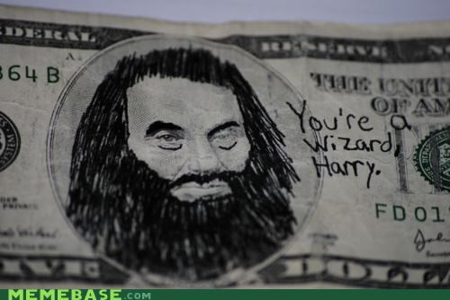 Abe Lincoln Harry Potter IRL Memes money - 4682764032