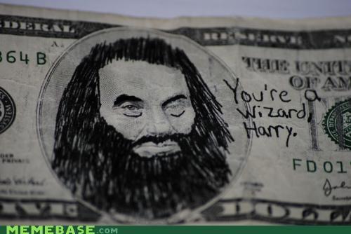 Abe Lincoln Harry Potter IRL Memes money - 4682764032