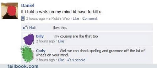 facepalm spelling witty reply - 4683096576