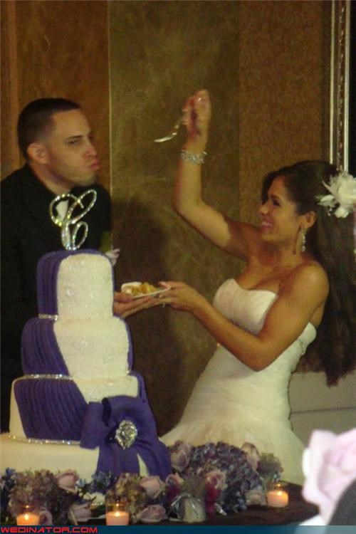funny wedding photos,groom,wedding cake