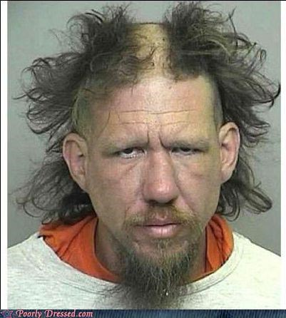bad hair,fashion police,mohwak,mugshot