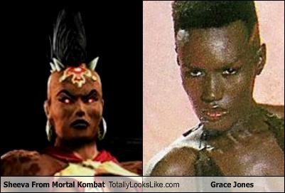 grace jones,models,Mortal Kombat,musicians,sheeva,video games