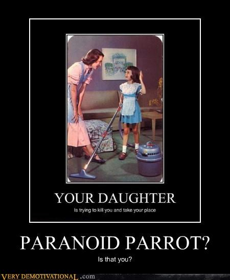 daughter murder paranoid parrot