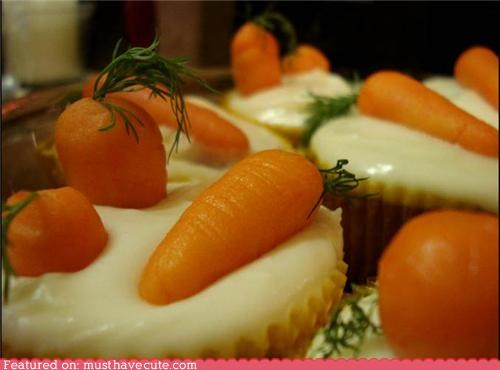 carrot carrots cupcakes epicute greens marzipan - 4684152320
