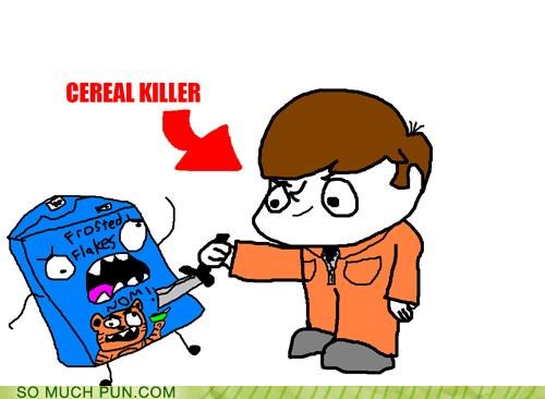 cereal,frosted flakes,homophone,killer,killing,literalism,serial killer,tony the tiger