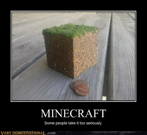 MINECRAFT Some people take it too seriously.