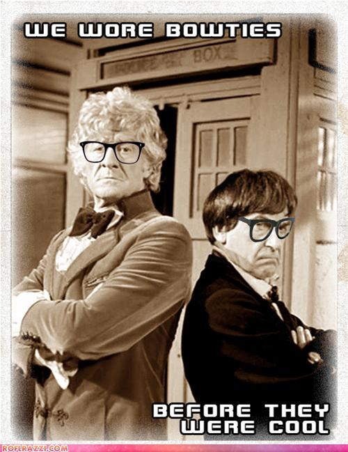 doctor who funny hipster jon pertwee patrick throughton sci fi - 4684594432