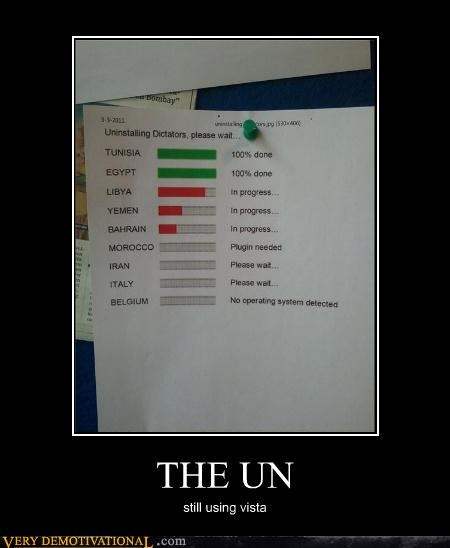THE UN still using vista