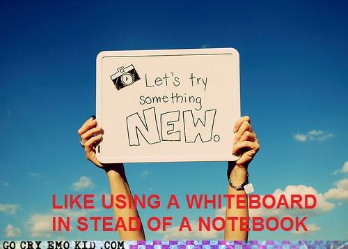 emolulz new notebook sign white board
