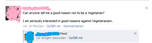 A good reason against Vegetarism