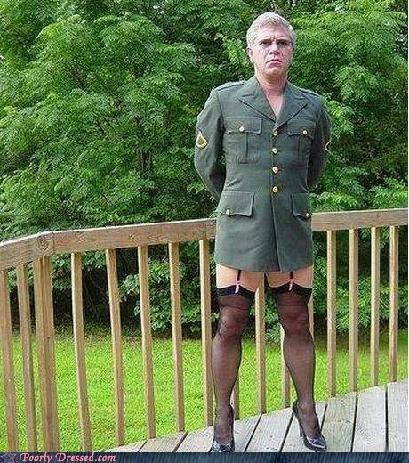 domination garters heels military stockings uniform