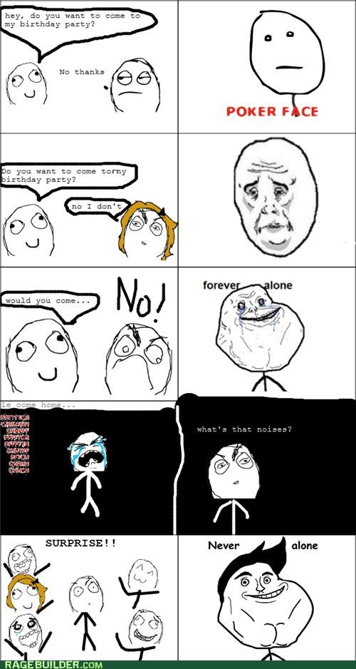advent birthday forever alone never alone Rage Comics - 4686353152