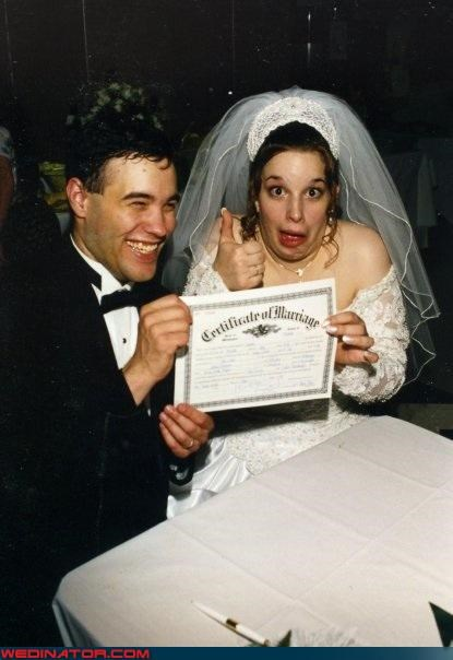 bride,funny wedding photos,marriage certificate