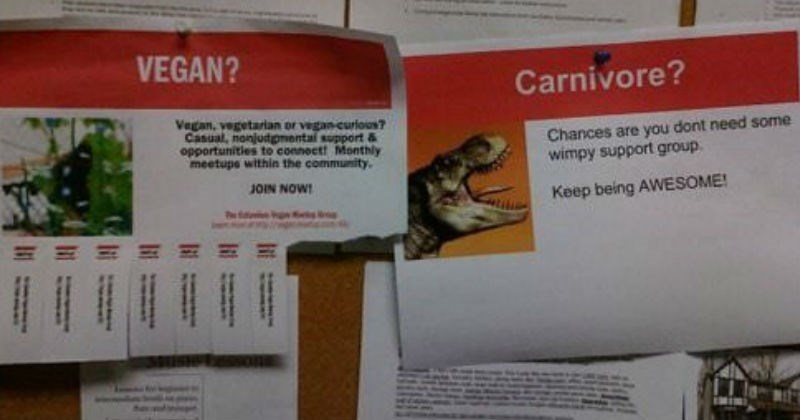 Collection of times people responded to funny flyers with equally funny flyers of their own.