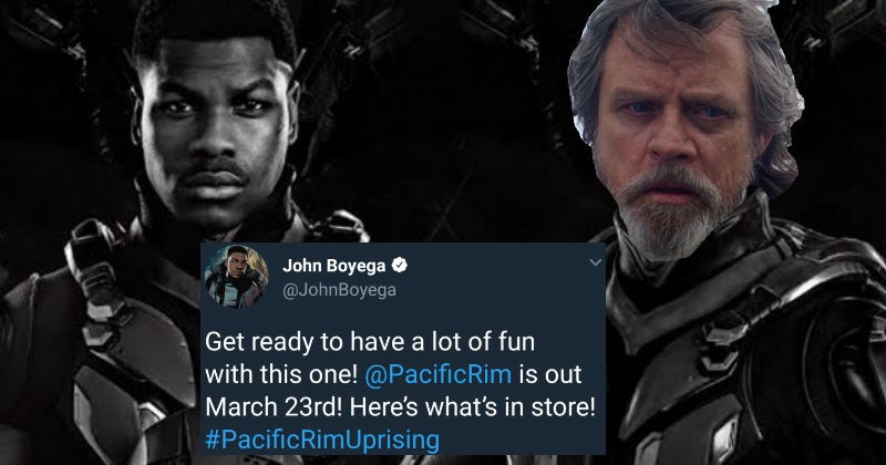Mark Hamill trolls his Star Wars co-star John Boyega about the Pacific Rim sequel, and the results are hilarious.