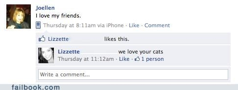 That awkward moment when your friends like your cats more than you..