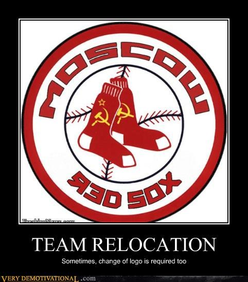 TEAM RELOCATION Sometimes, change of logo is required too