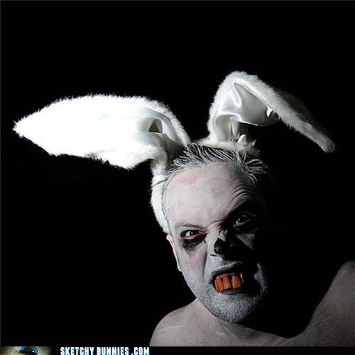 creepy easter gross scary sketchy bunnies - 4687946240