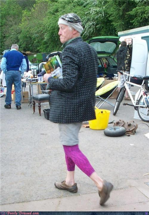 cross dressing,geriatric,leggings,wtf